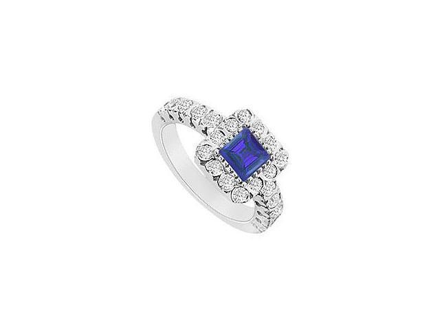 Emerald and Diamond Engagement Ring 14K Yellow Gold 1.25 CT TGW