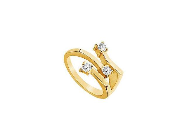 Emerald and Diamond Engagement Ring 14K Yellow Gold 0.66 CT TGW
