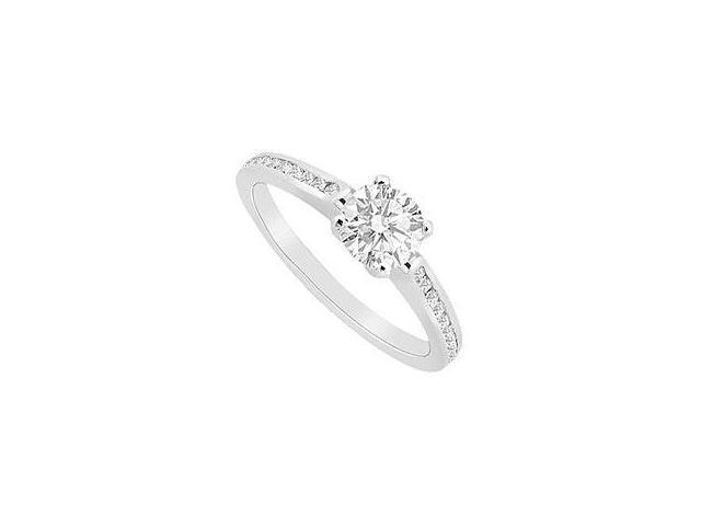 Sapphire and Diamond Ring 14K White Gold 3.75 CT TGW