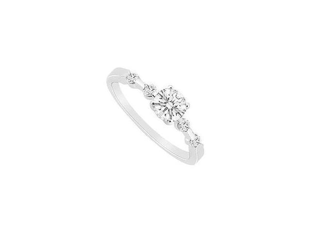 Ruby and Diamond Ring 14K White Gold 2.25 CT TGW