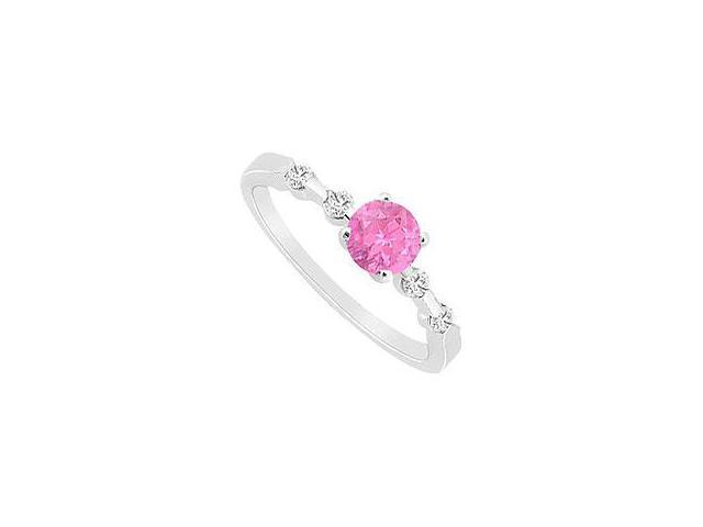 Ruby and Diamond Ring 14K White Gold 1.75 CT TGW