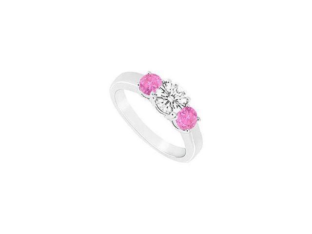 Created Aquamarine and Diamond Ring 14K White Gold 0.66 CT TGW