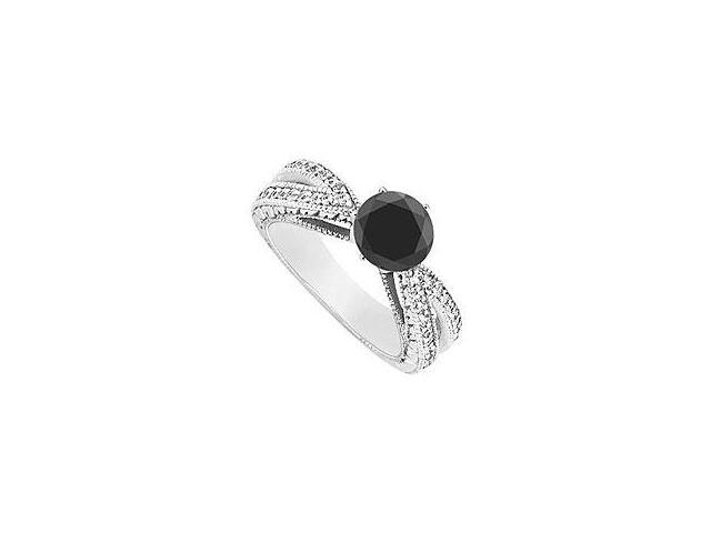 Created Ruby and Cubic Zirconia Ring 10K White Gold 3.50 Carat Total Gem Weight