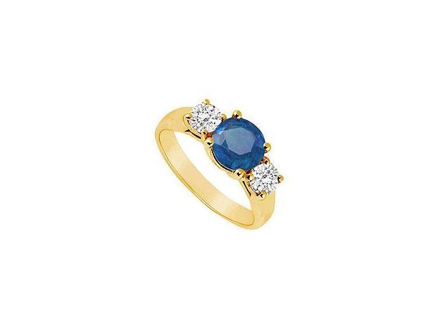 Blue Chalcedony and Diamond Ring 14K White Gold 2.50 CT TGW