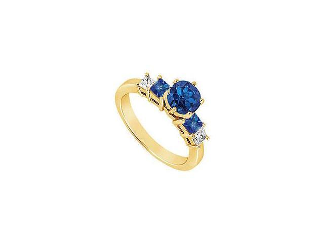 Blue Sapphire Eternity Band 14K Yellow Gold 4.00 CT TGW