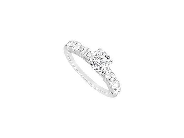 Garnet Ring 14K White Gold 1.00 CT TGW