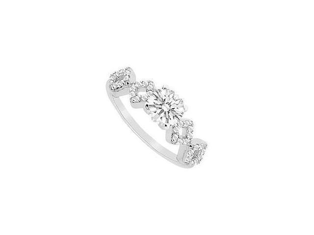 Pink Sapphire Ring 14K White Gold 1.00 CT TGW