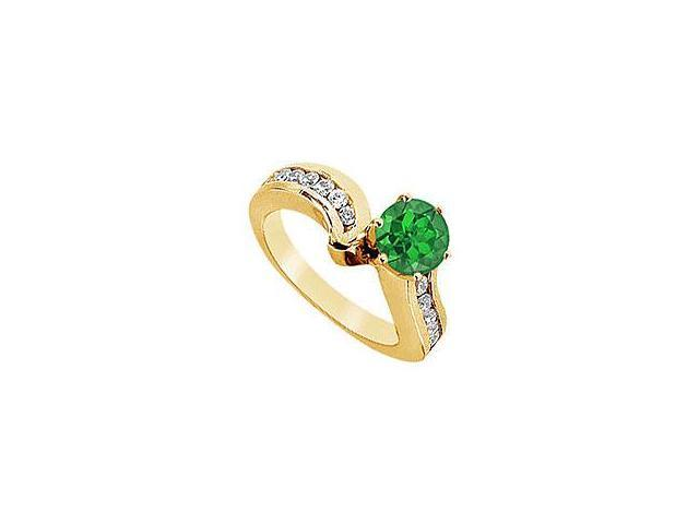 Ruby and Diamond Engagement Ring 14K Yellow Gold 2.50 CT TGW