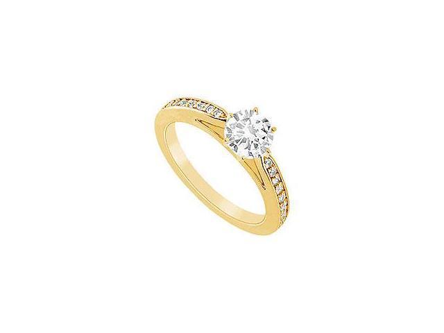 Sapphire and Diamond Ring 14K White Gold 0.50 CT TGW