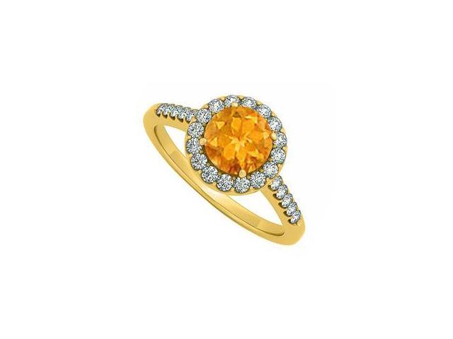 november citrine with cubic zirconia april birthstone halo