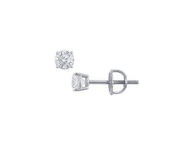 Platinum Round Diamond Stud Earrings 0.25 CT. TW.