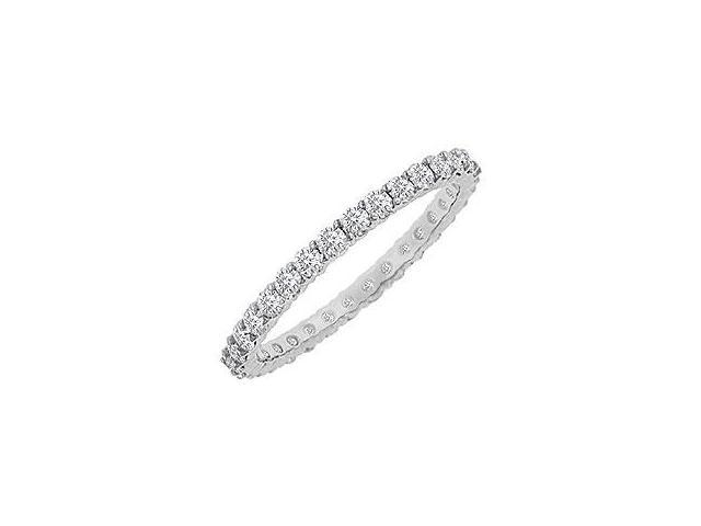 Diamond Eternity Bangle 18K White Gold 10.00 CT Diamonds