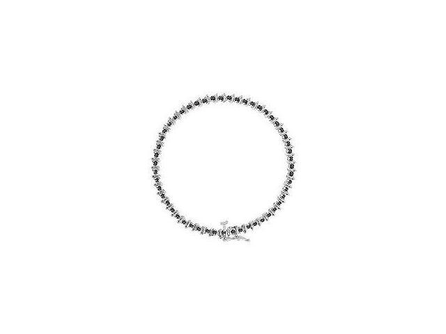 Black Diamond Bracelet 14K White Gold 1.00 CT Diamonds