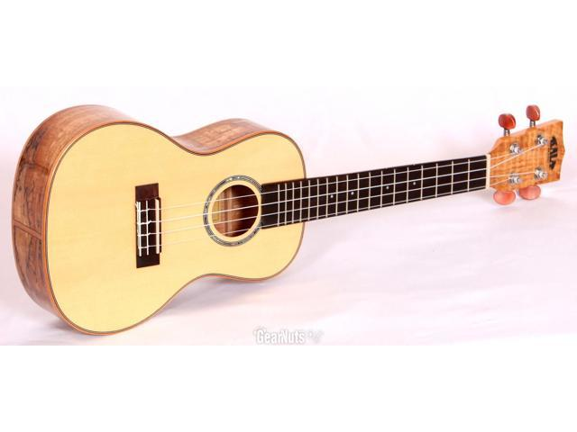 Kala KA-FMC Solid Spruce Concert Ukulele with Spalted Maple Back and Sides