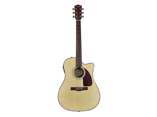 Fender CD140SCE Solid Top Cutaway Dreadnought Acoustic-Electric Guitar Natural