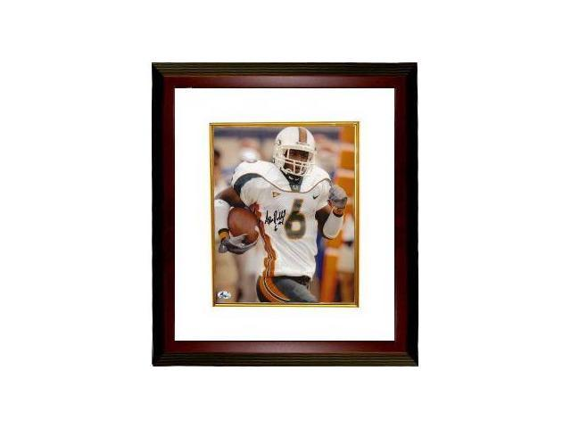 Antrel Rolle signed Miami Hurricanes 8x10 Photo Custom Framed