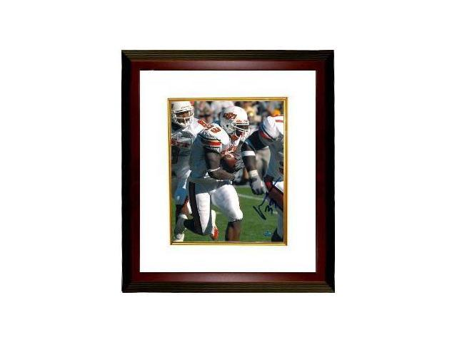 Vernand Morency signed Oklahoma State Cowboys 8x10 Photo Custom Framed- Morency Hologram
