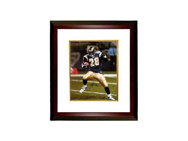 Marshall Faulk signed St. Louis Rams 16x20 Photo Custom Framed- Faulk Hologram