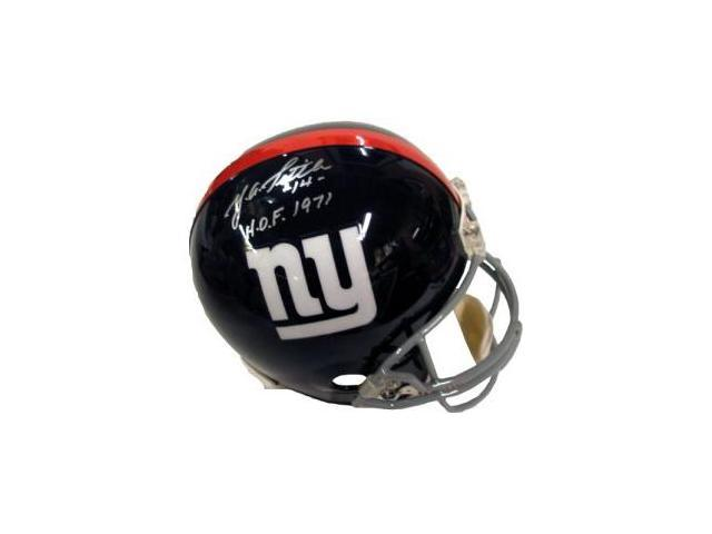 YA Tittle signed New York Giants Proline Helmet HOF 1971
