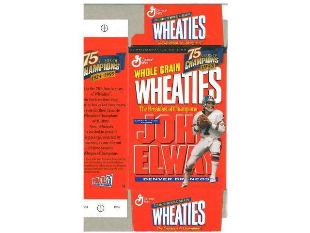 John Elway unsigned Mini Wheaties Box (Flat) Commemorative Box unused