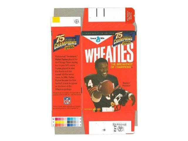 Walter Payton unsigned Mini Wheaties Box (Flat) Commemorative Box unused