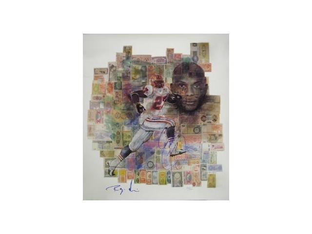 Eddie George signed Houston Oilers 20x24 Money Lithograph