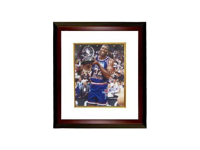Magic Johnson signed 1992 All Star 16x20 Photo Custom Framed with 92 MVP inscription