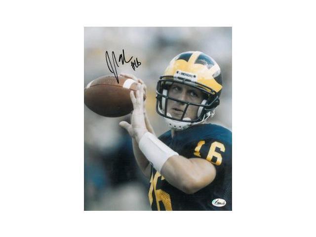 John Navarre signed Michigan Wolverines 8x10 Photo