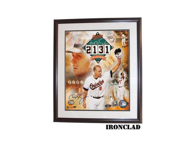 Cal Ripken, Jr. signed Baltimore Orioles 2131 10th Anniversary 8x10 Photo Custom Framed- MLB Hologram