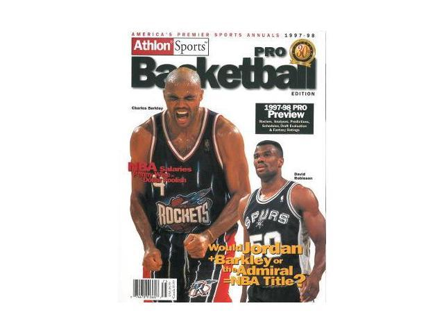 Charles Barkley unsigned 1997-98 Houston Rockets Preseason Basketball Magazine- 30th Anniversary