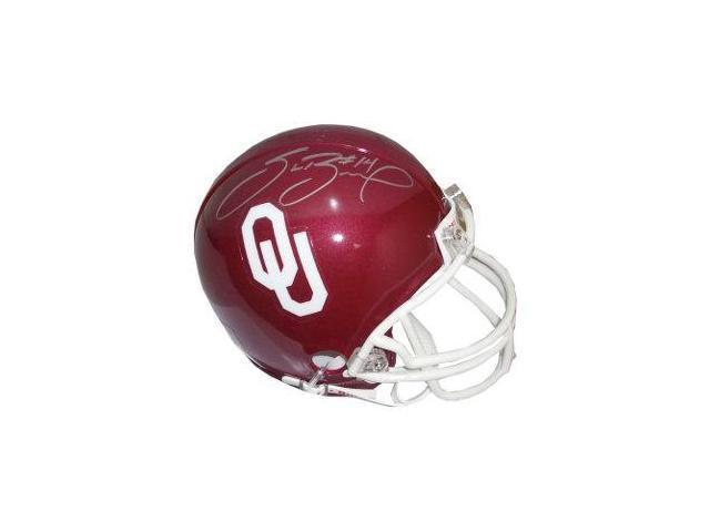 Sam Bradford signed Oklahoma Sooners Replica Mini Helmet- Bradford Hologram