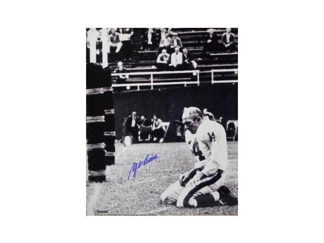 Y.A. Tittle signed New York Giants Blood 16x20 B&W Photo