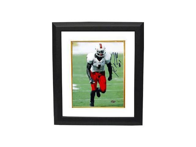 Roscoe Parrish signed Miami Hurricanes 8x10 Photo Custom Framed