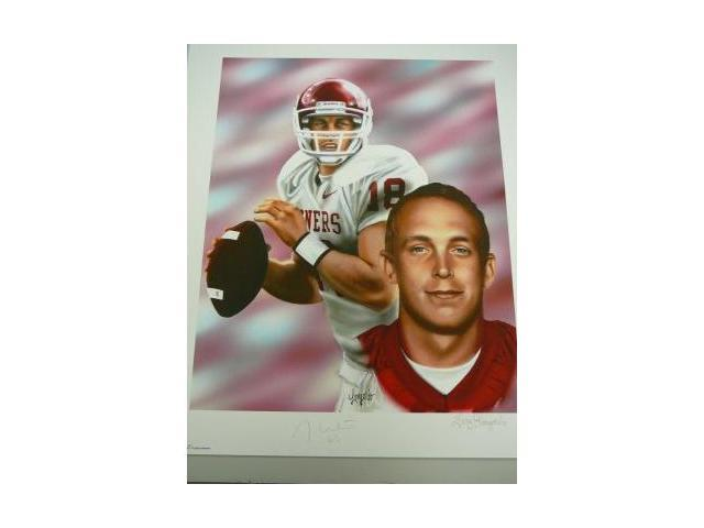 Jason White signed Oklahoma Sooners 20x24 Lithograph '03