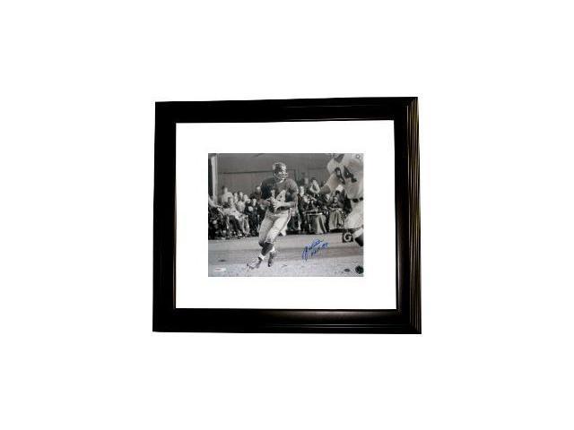 YA Tittle signed New York Giants 16x20 Photo HOF Custom Framed