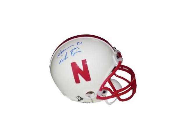 Mike Rozier signed Nebraska Cornhuskers Replica Mini Helmet Heisman 1983- Tri-Star Hologram
