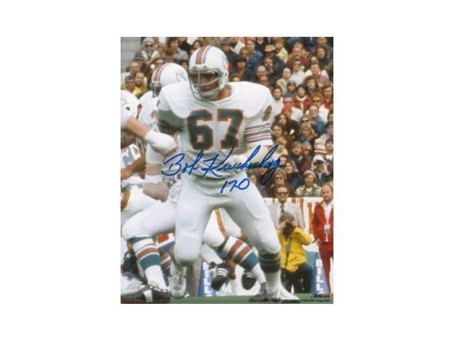 Bob Kuechenberg signed Miami Dolphins 8x10 Photo 17-0