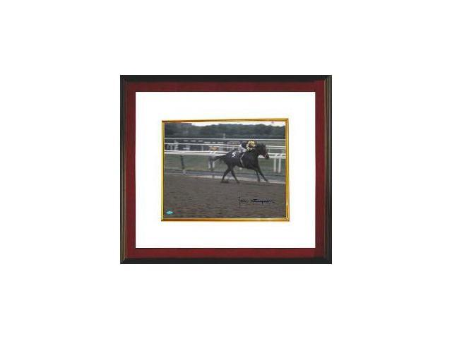 Seattle Slew signed Belmont Stakes Horse Racing 16X20 Photo Custom Framed