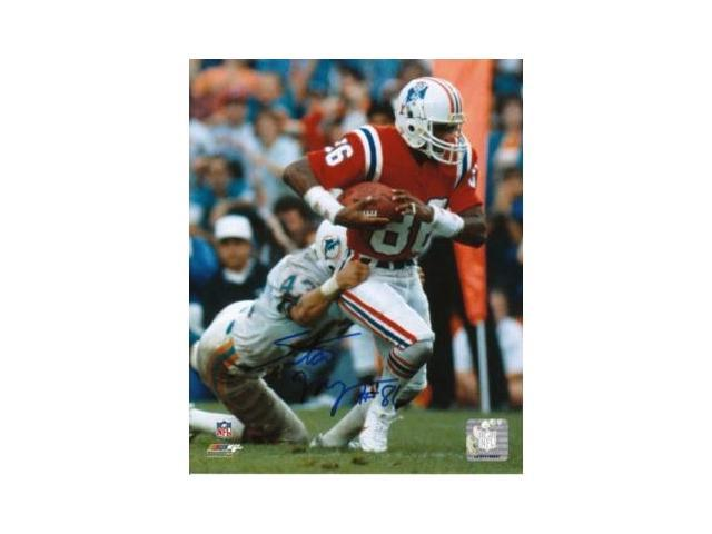Stanley Morgan signed New England Patriots 8x10 Photo