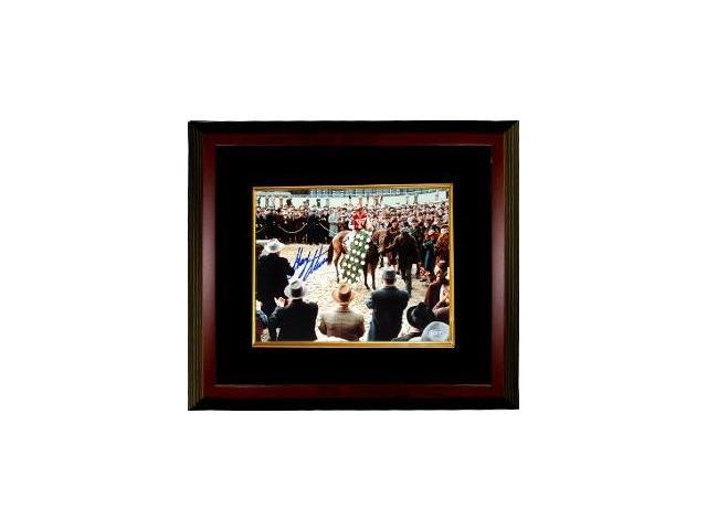 Gary Stevens signed Horse Racing Winners Circle from Seabiscuit Movie 16X20 Photo Custom Framed- Steiner Hologram