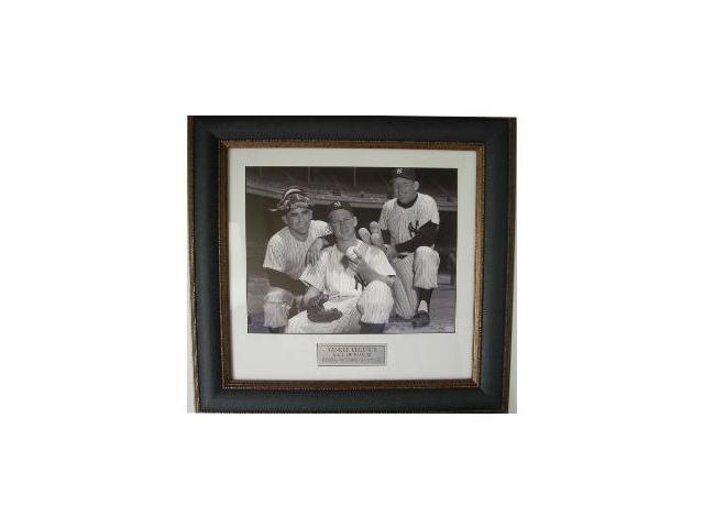 Whitey Ford unsigned 11X14 Photo Leather Framed