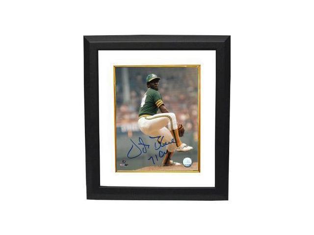 Vida Blue signed Oakland A's 8x10 Photo 71 CY Custom Framed