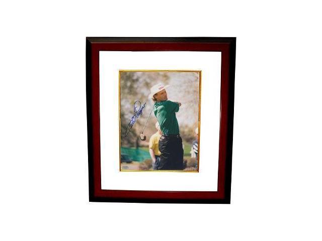 Bernard Langer signed Golf 8x10 Photo Custom Framed