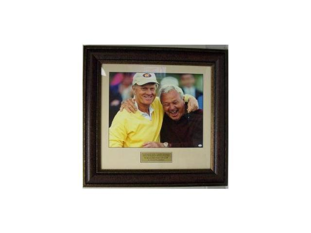 Arnold Palmer and Jack Nicklaus unsigned 16x20 Leather Framed