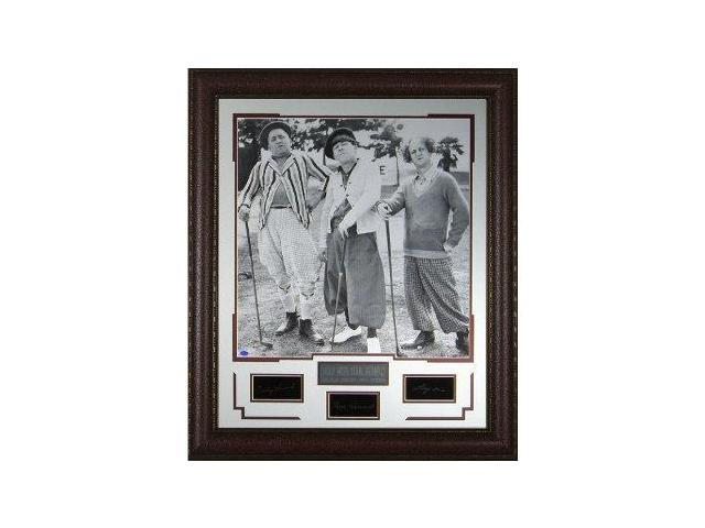 3 Stooges unsigned Engraved Collection 29x34