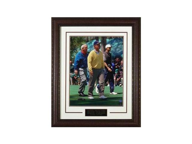 Arnold Palmer unsigned 96 Masters 11X14 Photo Leather Framed