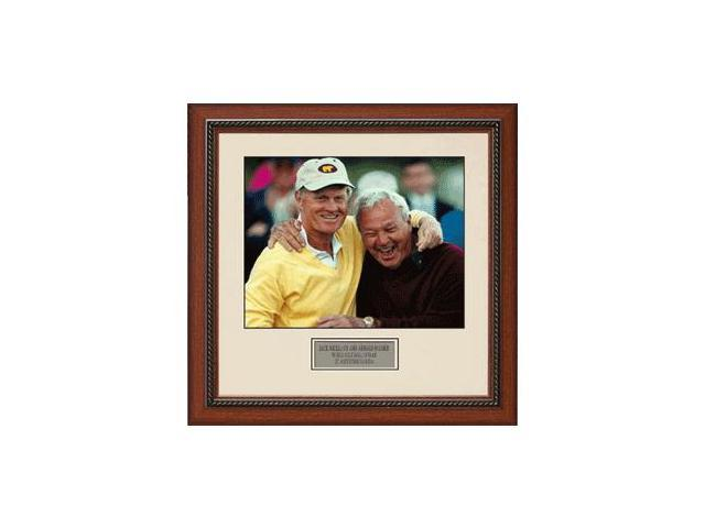 Jack Nicklaus unsigned 16x20 Framed World Golf Hall of Fame w/Palmer