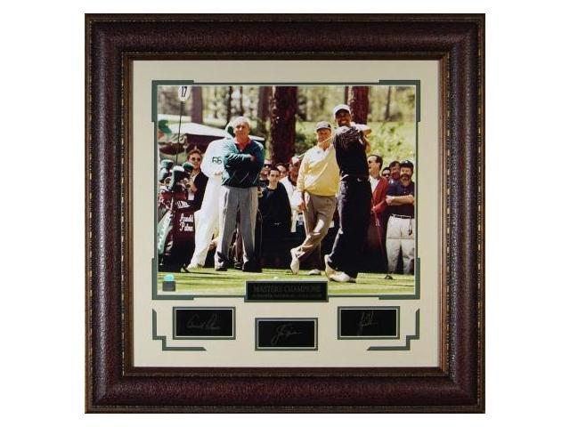 Jack Nicklaus unsigned Engraved Signature Series 30x32 w/Woods & Palmer