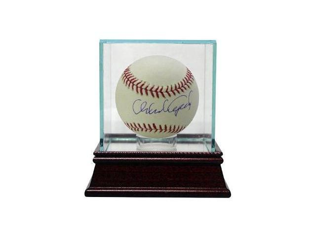 Orlando Cepeda signed Official Major League Baseball w/ Glass Case