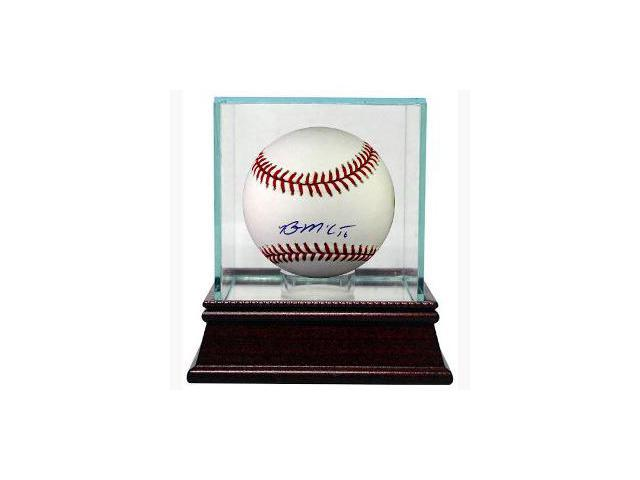 Brian McCann signed Official Major League Baseball w/ Glass Case
